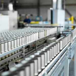 FOOD CANS IN PRODUCTION